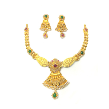 916 Yellow Gold Traditional Necklace Set
