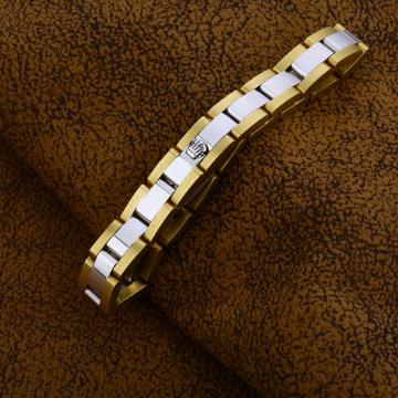 White Yellow Gold Italian 18K Bracelet-MIB03