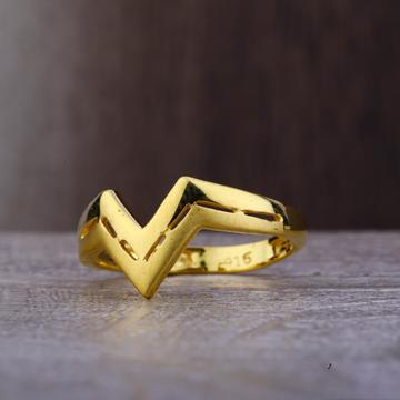 Ladies 916 Gold Designer CZ Ring -LPR79