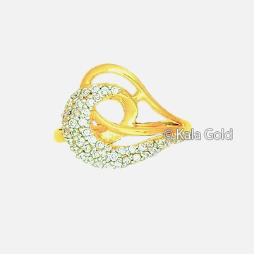 22 KT CZ Gold Fancy Ladies Ring by