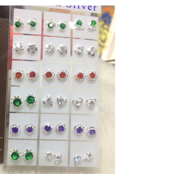 925 Sterling silver Colorful earring