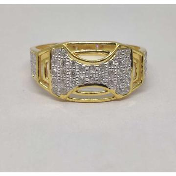 916 gents fancy gold Ring Gr-28604