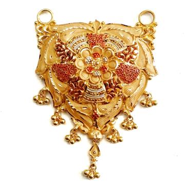 22k gold kalkatti designer mangalsutra pendant mga - mgp009