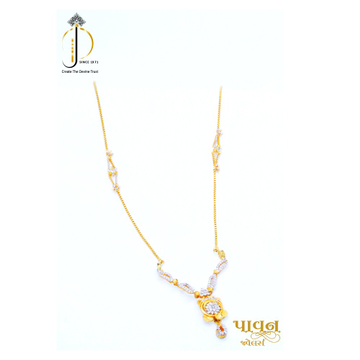 22KT / 916 gold 2 in 1  Pendant Chain For Women DKG0017