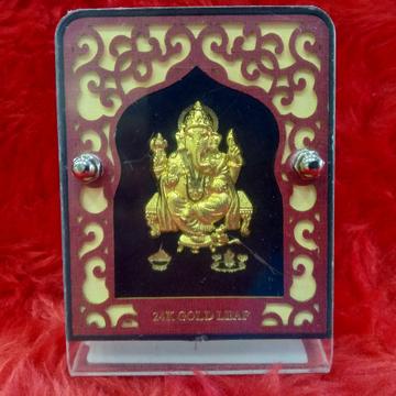 24KT Gold Leaf Ganesh ji Gift article by