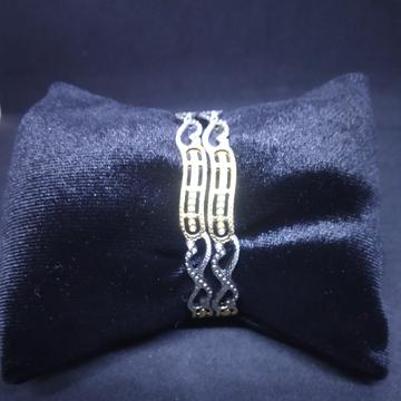 CNC two(2) tone rodiyam silver gold bangle(kadli,kangan,patla) 06