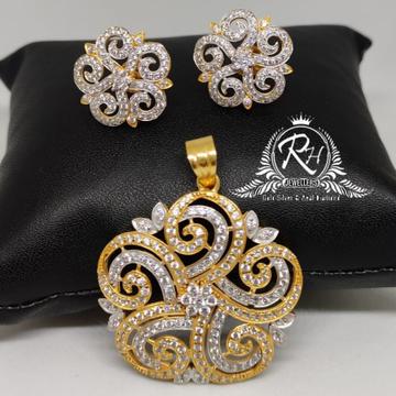 22 carat gold antic pandal set Rh-Ps903
