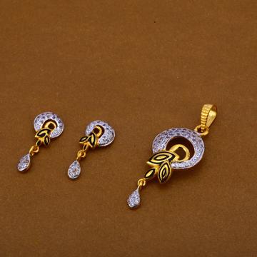 22Ct Gold Ladies Pendant Set FPS217