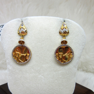 Gold Mirror Style Earring