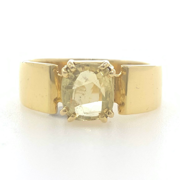 18kt / 750 yellow gold yellow sapphire plain ring 9gr25