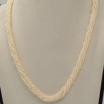 Freshwater White SeedPearls 7Layers Twisted NecklaceJPM0326