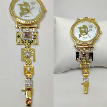 18k Ladies Fancy Gold Indian Watch G-2232