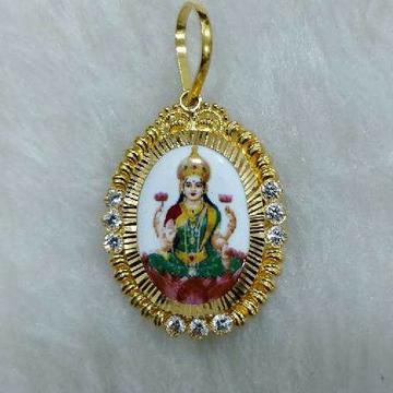 916 Gold Laxmiji Photo Pendant