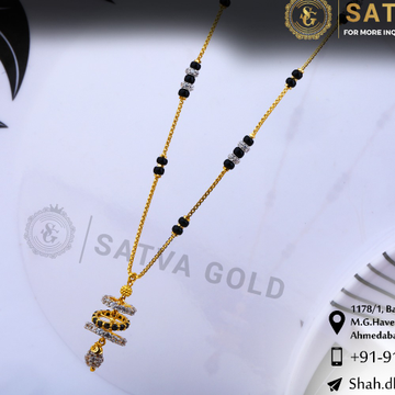 916 gold CZ Mangalsutra SGC-0044