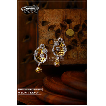18 carat Gold ladies tops with ball  earrings bug0... by