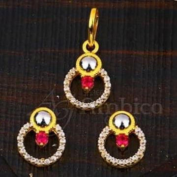 22KT Gold Chain Pendal Set RH-CPS004