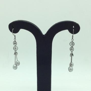 PearlSilverEar HangingsJER0160