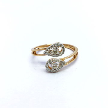 Real diamond fancy rose gold ring