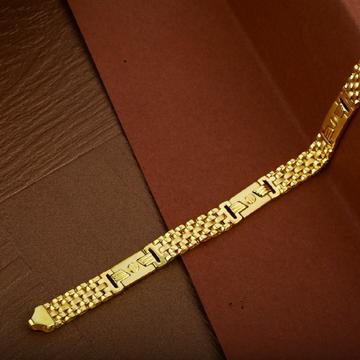 Mens 916 Gold Designer Plain Cz Cartier Bracelet-MCRB09