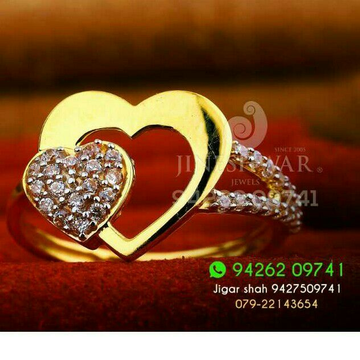 Engagement Special Cz gold ladies Ring LRG -0303