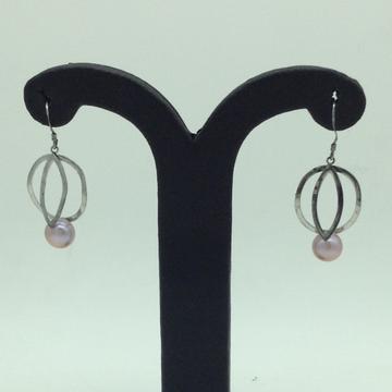 PearlSilverEar HangingsJER0144