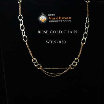 18ct fancy Rose gold chain by
