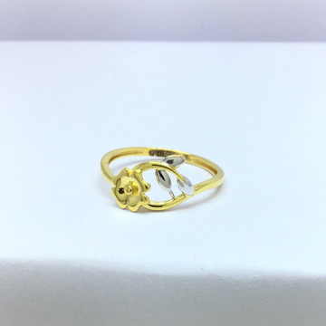 Designing fancy flower ladies gold ring