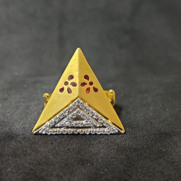 22kt desinger triangle shape women's gola ring-15034