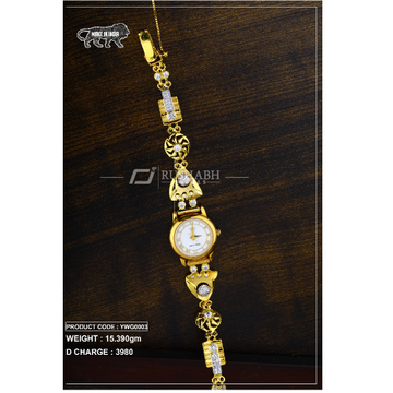 18 Carat Gold Ladies gold watch ywg0003