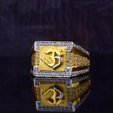 Om God Gold Mens Ring-MGR70