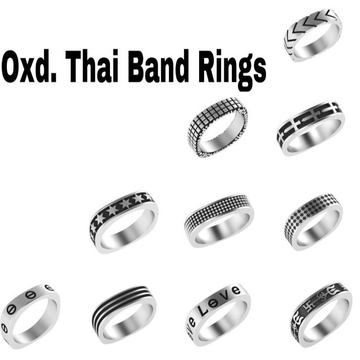 925 starling silver thai band oxdised rings RH-925R