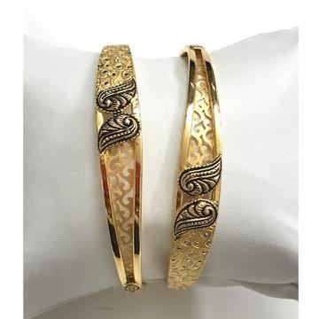 22KT Gold Antique Copper Kadli Bangle DC-B002