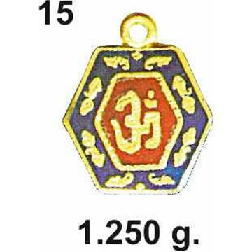 22KT Gold Religious Om Pendant