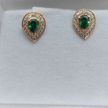 Gold Green Ston Tops by Parshwa Jewellers