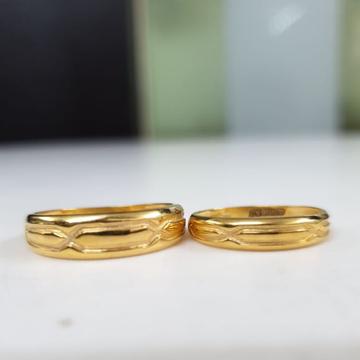 22KT Yellow Gold Neoniro Couple Band For Unisex