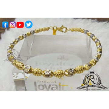 22 cart gold stylish bead ball ladies kada Rh-KD523