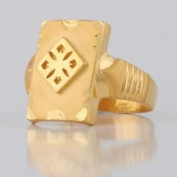 22 Carat gold GENTS FENCY RING RH-GR113