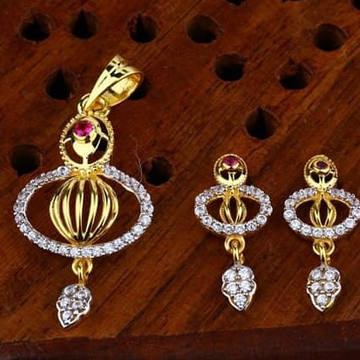 916 gold cz Pendant Set ps-0006