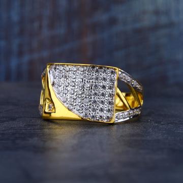 Mens 916 Daily Wear Fancy Cz Gold Ring-MR82