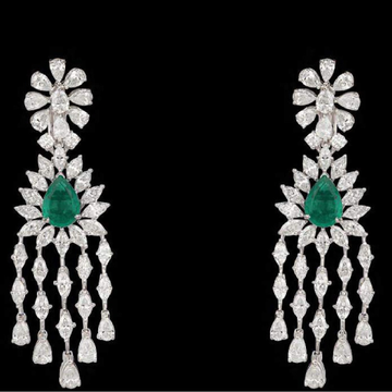 Diamonds and Emeralds EarringsJSJ0091