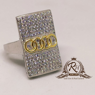 92.5 silver audi antic gents ring Rh-Gr948