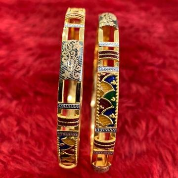 22KT/ 916 Gold Colorful mina Festival copper Kadli... by