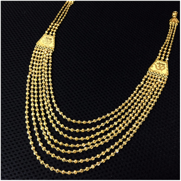 7 line Rajwadi Wedding Mala in 22k Gold