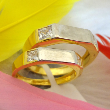 916 gold cz couple rings