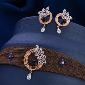 18 carat rose gold fancy hallmark ladies necklace...