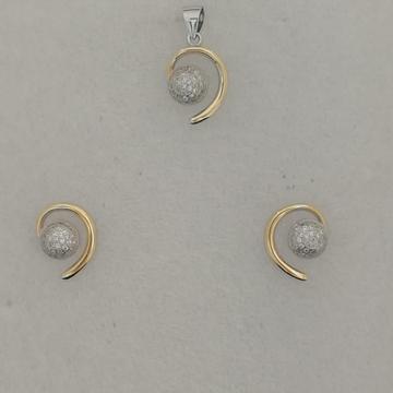 Sterling silver diamond butty pendant set by Vinayak Gold