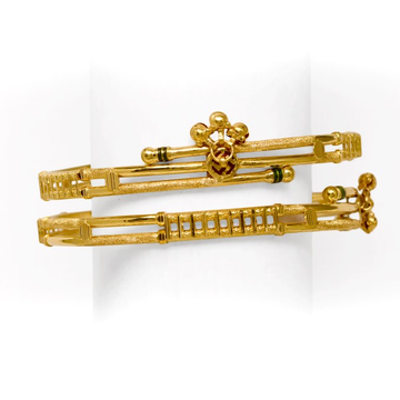 916 DESIGNER DOUBLE PIPE BANGLE by