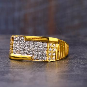 916 CZ Gold  men's Ring MR752