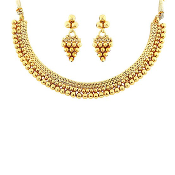 22kt, 916 Hall-Marked, Yellow Gold round hanging balls Design Necklace For Women Jkn019