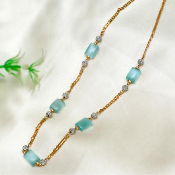 916 Gold Blue Stone Mala PJ-M001